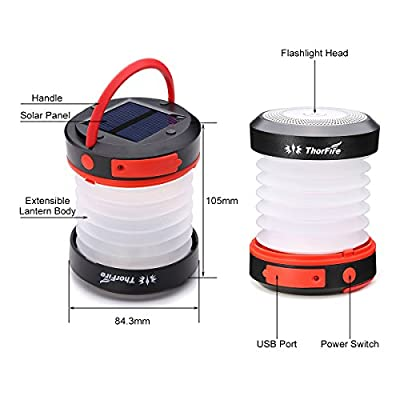 ThorFire Camping LED Lantern Mini Flashlight Torch Light