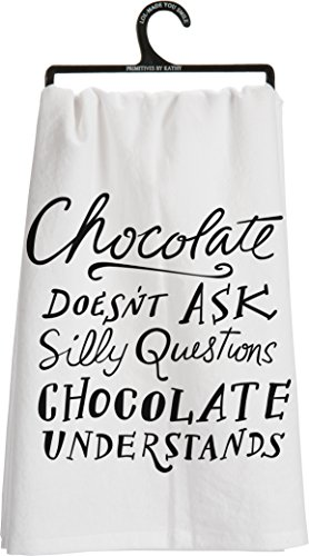 Primitives by Kathy Chocolate Tea Towel, 28-Inch by 28-Inch