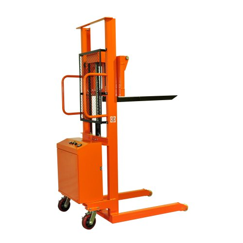 "Bolton Tools New Electric Powered Hand Forklift Stacker - 1100 Lb Of Capacity - 63.0"" Max Height - Model Eqsd50C"