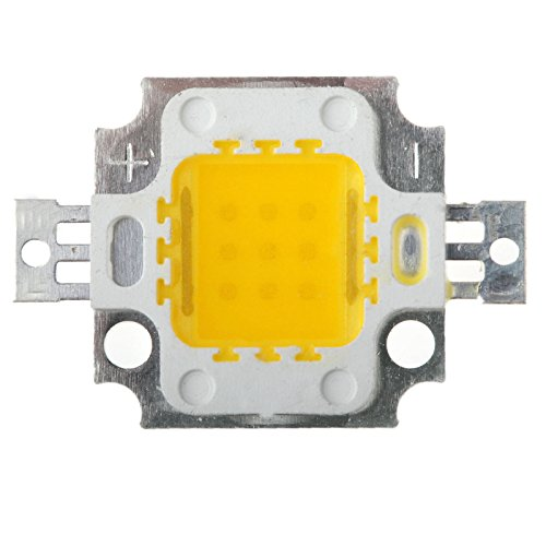 (Ship From Us)Ronshin 1Pcs 10W Warm White High Power Led Smd Chips Bulb Lamp Dc9-12V For Diy Energy Saving Lc00002