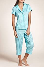 Pure Cotton Revere Collar Spotted Pyjamas [T37-2298-S]