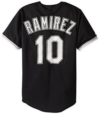 MLB Chicago White Sox Alexei Ramirez Black Alternate Short Sleeve 6 Button Synthetic... by Majestic