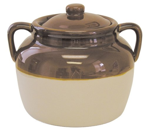 R & M International 4.5 Quart Large Ceramic Bean Pot, Brown (Stoneware Pot compare prices)