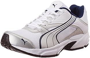 Puma Men's Volt. II Ind. White, Silver Metallic and Dark Denim Mesh Running Shoes - 6 UK/India (39 EU)