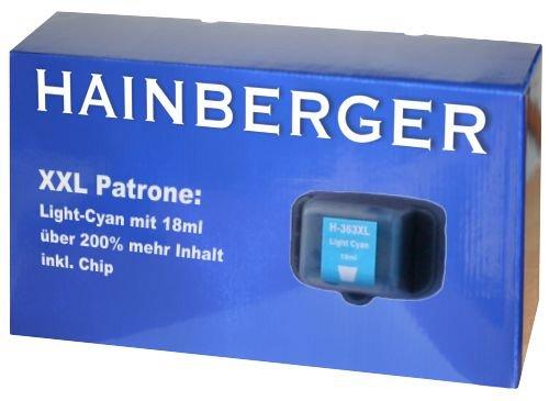 Hainbergerkompatible XXL Tintenpatrone 18ml 1x Light Cyan für HP 363 Serie 363LC für HP Photosmart C5190 C5194 C5150 C5160 C5170 C5173 C5175 C5183 C5185 C5188 C5190 C5194 C6150 C6160 D6160 D7145 D7155 D7160 D7163 D7168 D7180 D7183 D7260 D7280 D7300 D7345 D7355 D7360 D7363 D7368 D7460 D7463 D7468 Photosmart 3100 3110 3200 3210 3310 C5180 C6160 C6180 C7180 8200 8238 8250