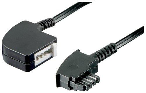 Wentronic-TAE-Verlngerung-TAE-F-Stecker-auf-TAE-F-Kupplung-schwarz-6m