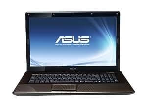 Asus X72DR-TY013V 43,9 cm (17,3 Zoll) Notebook (AMD Athlon 64 X2 P320, 2,1GHz, 4GB RAM, 500GB HDD, ATI HD 5470, Win7 HP, DVD) braun