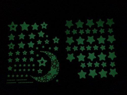 Glow-in-the-Dark 150 Stars Vinyl Wall Decals Set