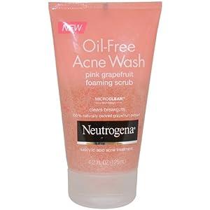 Neutrogena Oil-Free Acne Wash Foaming Scrub, Pink Grapefruit, 4.2 Ounce