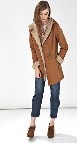 Amazon.co.jp: (プレフェリール) PREFERIRフェイクムートン フード付き コート フェイクムートン M キャメル: 服&ファッション小物通販