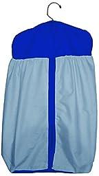 Baby Doll Reversible Diaper Stacker, Light Blue/Royal Blue