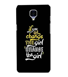 ONE PLUS 3 CHANGE THE GIRL TEXT Back Cover by PRINTSWAG