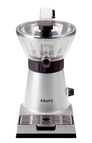 KRUPS ZX7000 Stainless Steel Electric Citrus Press with Manual and Automatic Settings, Silver