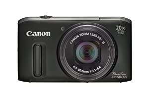 Canon Powershot SX240 HS Digital Camera - Black (12.1 MP, 20x Optical Zoom) 3.2 Inch LCD