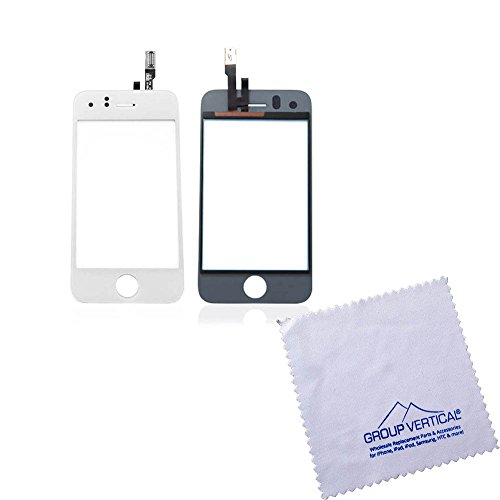 Group Vertical - Touch Screen Digitizer Front Glass White Replacement Screen Lens For Iphone 3Gs