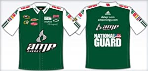 DALE EARNHARDT JR AMP WHITE GREEN PIT CREW SHIRT by RacingGifts