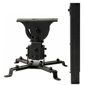 Montaje de techo para proyector LCD/DLP  VideoSecu extendible hasta 28.3  negro