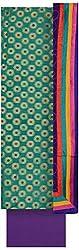 Pal-Pal Women's Banaras Jacquard Dress Material (PAL-PAL-F, Green & Purple)