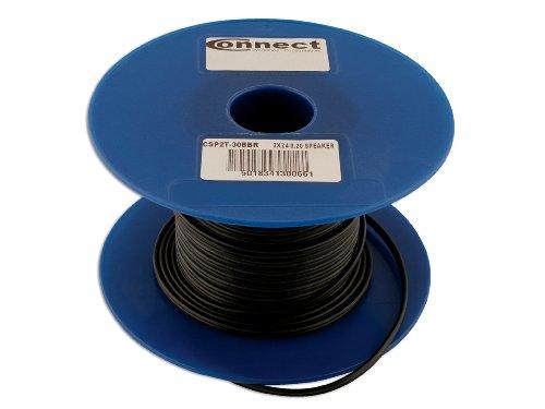 Connect 30066 Stereo-Lautsprecherkabel, 30 m x 0,2 mm, 6 A, Schwarz / Rot