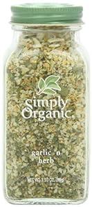 Simply Organic Garlic 'n Herb Certified Organic, 3.1-Ounce Glass Bottle