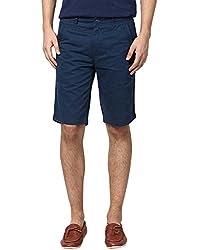 Zess Men's Cotton Shorts (8903862962245_Navy_32)