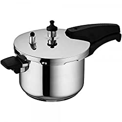 Wonderchef Secura 4 Stainless Steel Pressure Cooker, 5 Litres, Silver
