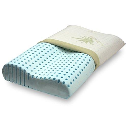 Cuscino 100 memory saponetta per cervicale tessuto aloe - Cuscini letto per cervicale ...
