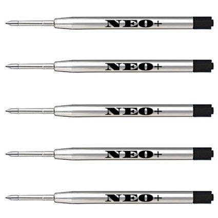 Lot de 5 recharges de stylos à bille compatibles avec Parker Noir