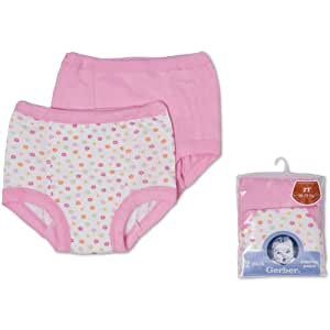 Gerber 4-pack Flower Design Training Pants for Girls (2T)
