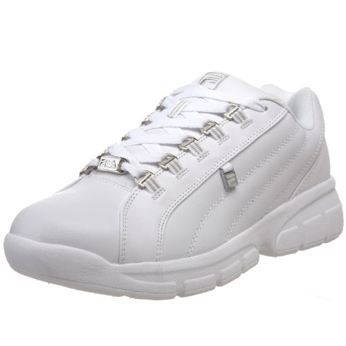 Fila Men's Exchange 2K Sneaker,White/White/Metallic Silver,14 M US