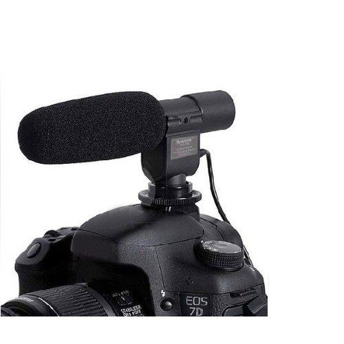 Sodial(R) Sg-108 Dv Stereo Video Shotgun Mic Microphone For Nikon Canon Camera Dv Camcorder