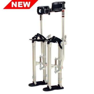 SurPro Interlok Aluminum Drywall Stilts, Adjustable Height 15-23 in. (SUR-SS-1523AP)