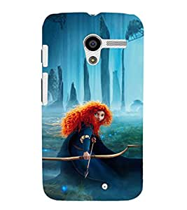 EPICCASE Girl with Bow and Arrow Mobile Back Case Cover For Moto X (Designer Case)