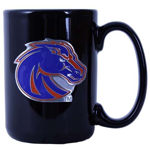 Boise State Broncos 15Oz Black Ceramic Mug