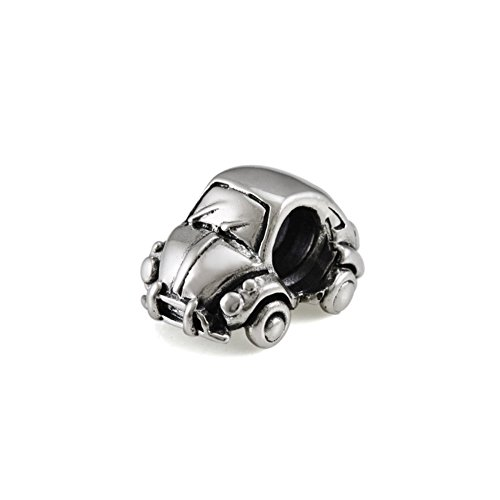 Ohm Beads Sterling Silver Bug Classic Car Bead Charm