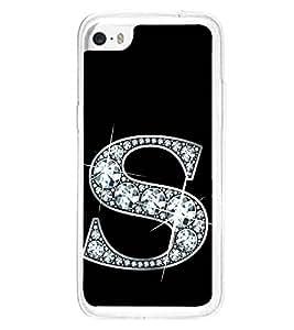 Printvisa Alphabet S 2D Hard Polycarbonate Designer Back Case Cover For Apple Iphone 5C