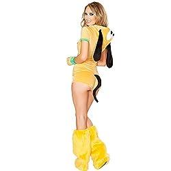 Stylish Hot Yellow Zipper Front Hooded Dog Costume