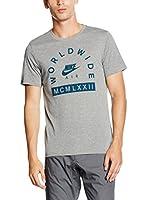 Nike Camiseta Manga Corta Tee- Air Hybrid Worldwide (Gris Jaspeado)