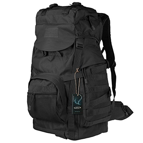 G4Free 50L Military Tactical Backpack Hiking Camping Traveling Unisex Outdoor Weather Resistant Mountain Climbing Bag