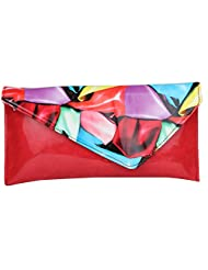 Do Bhai Multi Patent Women's Clutch (Red) (Multi Pentant-Red)