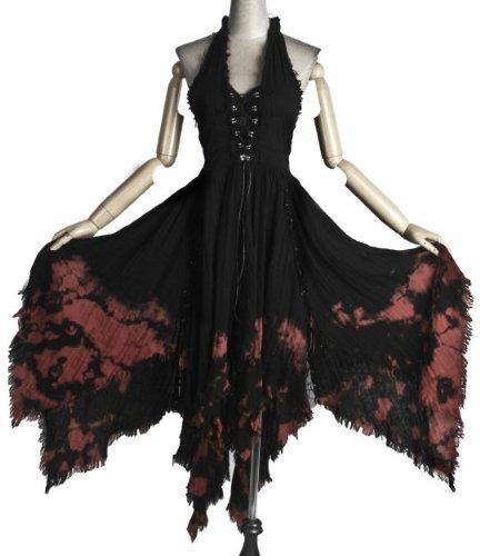 Schwarzes gothic kleid lang