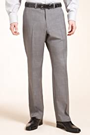 Supercrease® Wool Blend Flat Front Trousers [T18-3914-S]