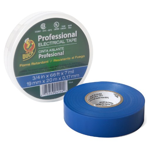 Duck Brand 300879 Pro 667 Series Electrical Tape, 3/4-Inch By 66 Feet, Single Roll, Blue