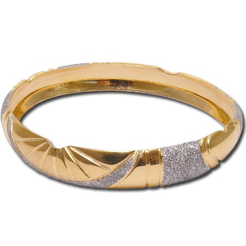 Gold and Rodium Plated Bracelets Costume Jewelry from India Unique Gift for Her 2.25 inches