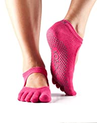 ToeSox Women's Grip Full Toe Bella Socks