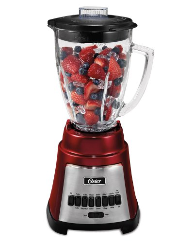 Oster BLSTFG-R00-000 Oster BLSTFG-C 6-Cup Glass Jar 12-Speed Blender, Metallic Red,  1, Metallic Red