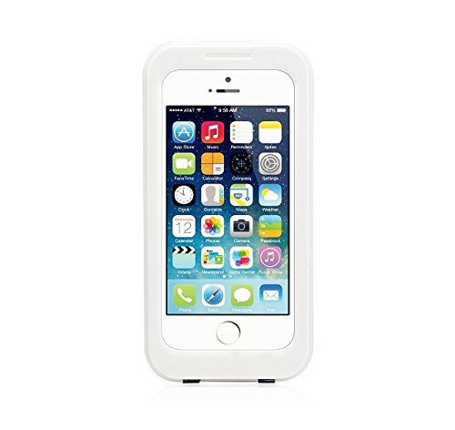 Unitewell High Quality Apple Iphone 4 4S 5 5S Multi Purpose Protection Case Cover - Waterproof Dustproof Shockproof Snowproof Crashproof - Retail Packaging (White)