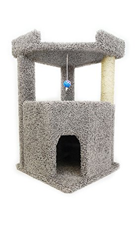 New Cat Condos Premier Corner Roost Cat Tree, Gray