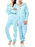 ZIPUPS Mono-Pijama Clean Cut (Azul Ártico)