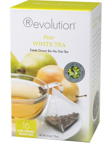 Revolution Tea, White Pear Tea, 16 Flow-through